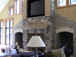 Lodge Fireplace